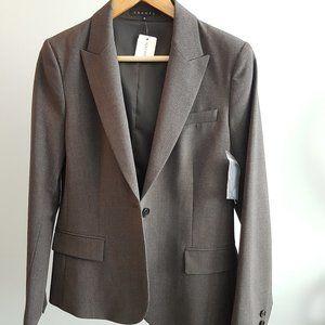 Charcoal Women's Wool Theory Blazer - Size 10